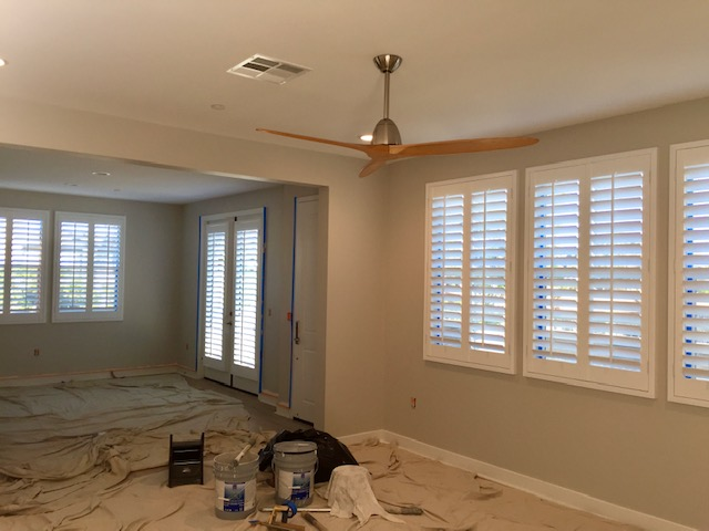 Oceanside, CA - Just completed the installation of an entire brand new home.  Basswood shutters delivered in 2 weeks.