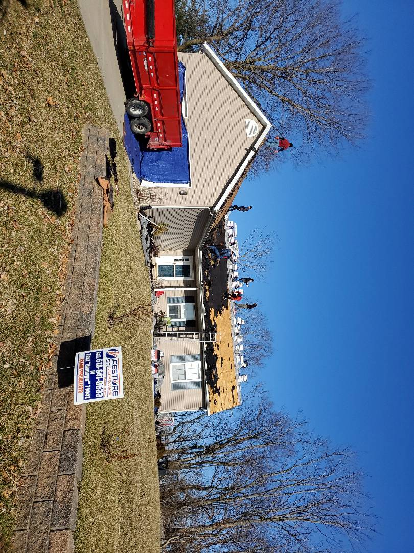 Columbia, IL - Complete tear off Going to install G A F  roofing system with a golden pledge 50 year warranty.