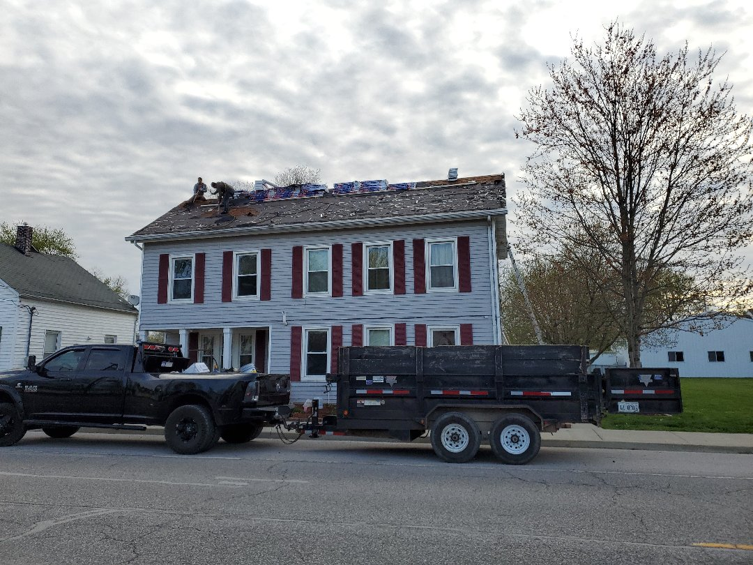Marine, IL - Approved storm-damaged full replacement for roofing. This customer is very happy to the point where they actually put money in their pocket after our services.