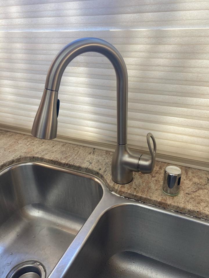 Camarillo, CA - Plumber installed customer supplied kitchen faucet.
