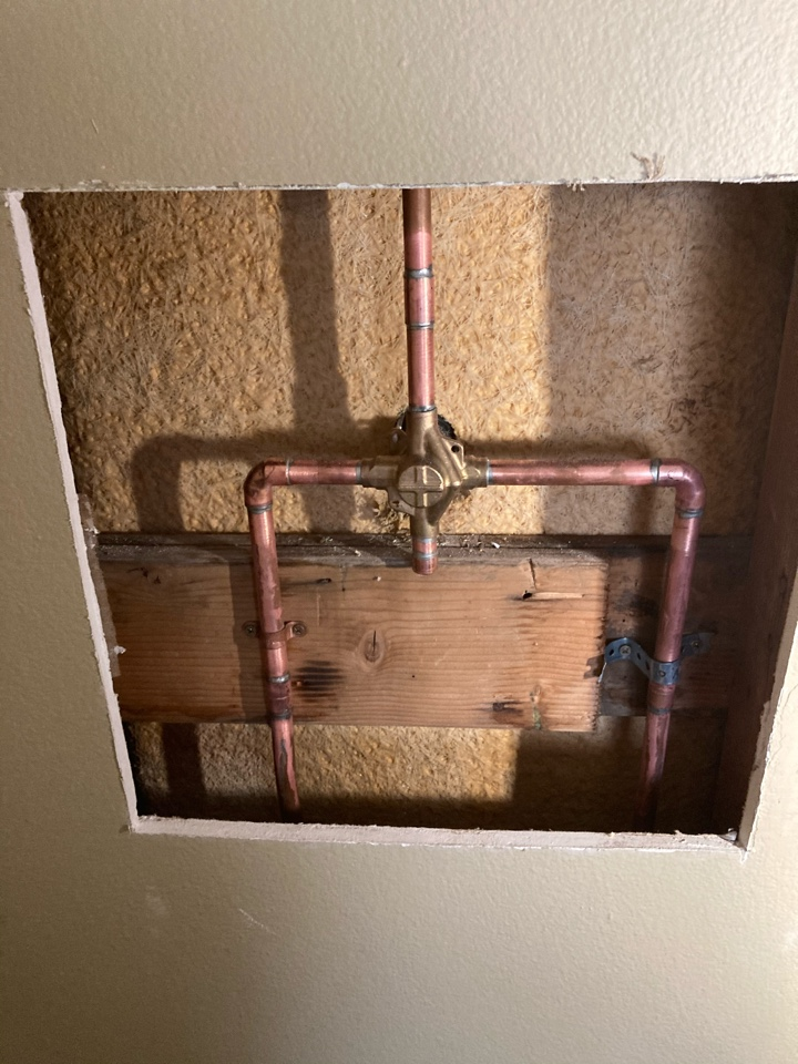 Ventura, CA - Plumber installed two new mown posi-temp shower valves and trim.