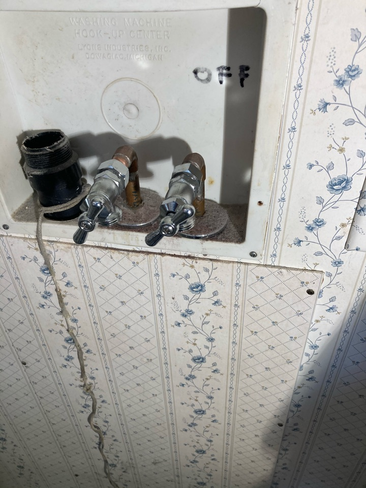 Ventura, CA - Plumber replaced leaking laundry valve with two new laundry bibs.
