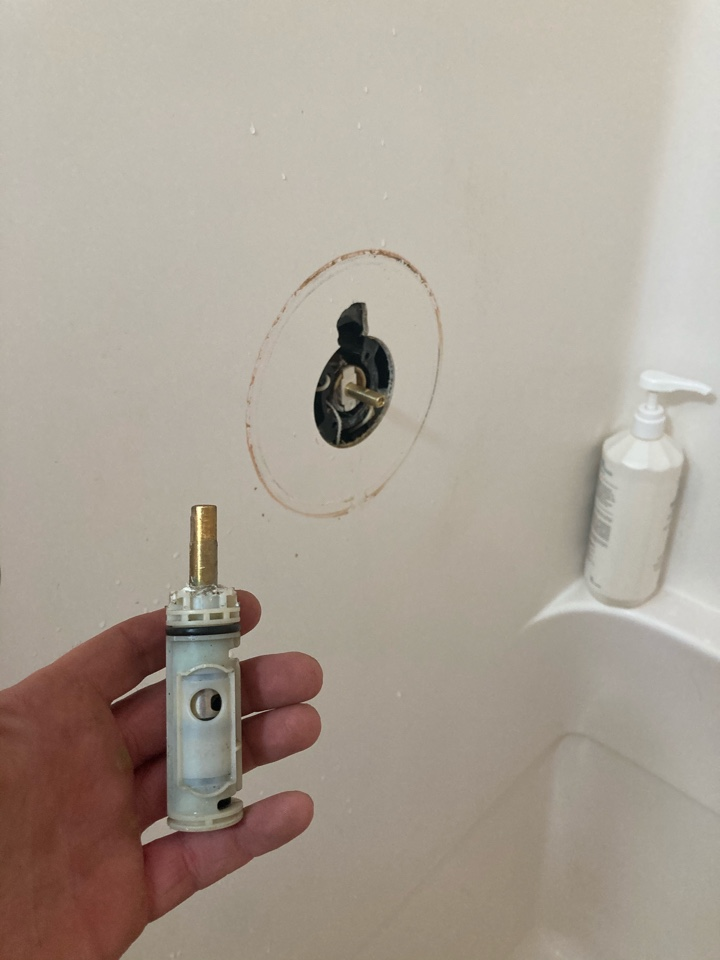 Ventura, CA - Plumber replaced moen posi temp shower cartridge.