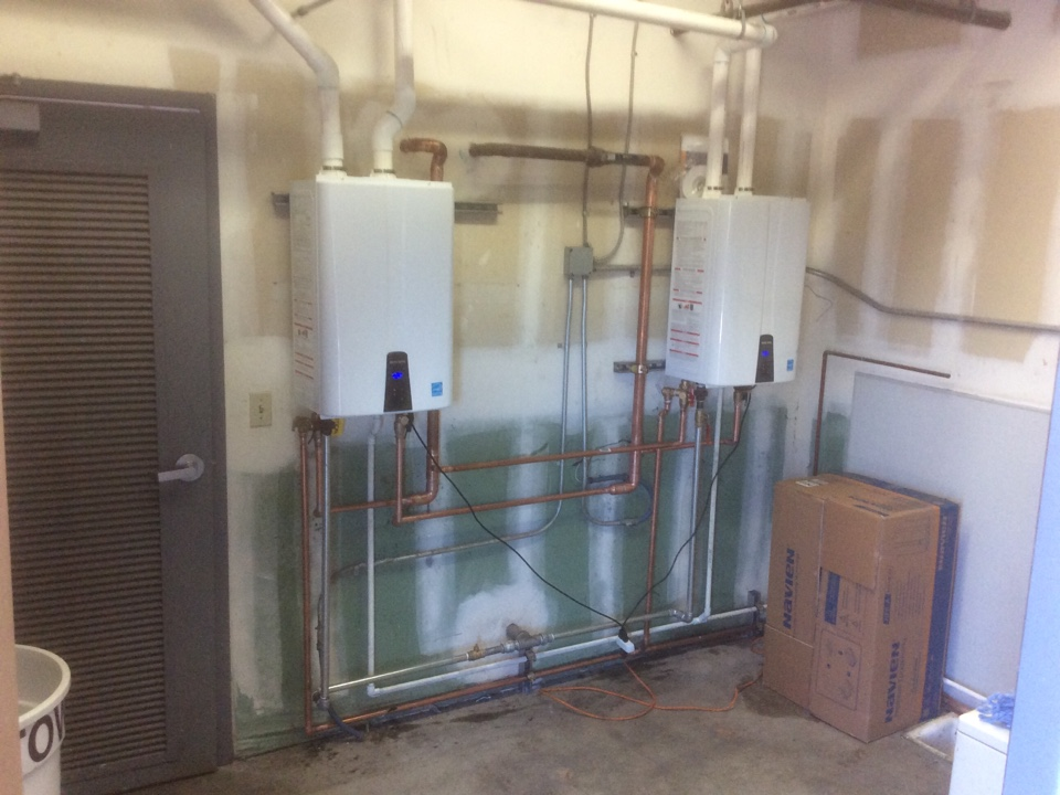 Moorpark, CA - Installing dual tankless water heater system