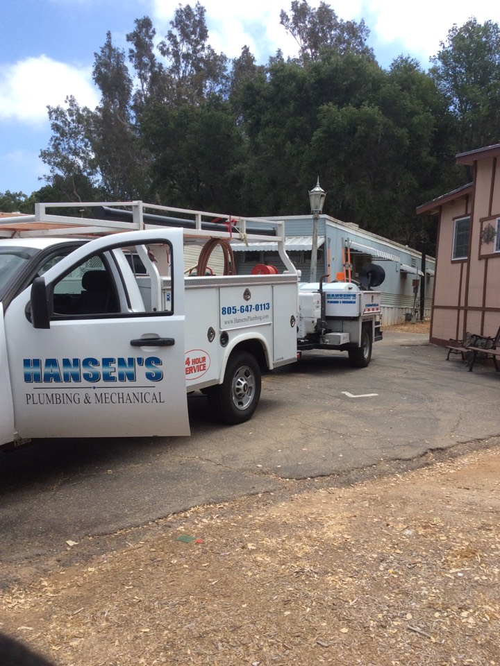 Ojai, CA - Plumber needed to hydro jet roots from main sewer line st mobile home park. We maintain mobile home park sewer lines with our top of the line jetting equipment so there are no emergency clogs or stoppages.