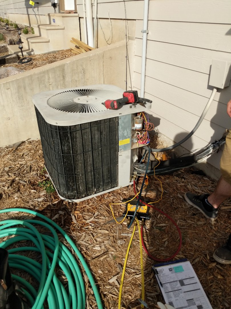 Cheney, KS - Getting this A/C ready for cooling season