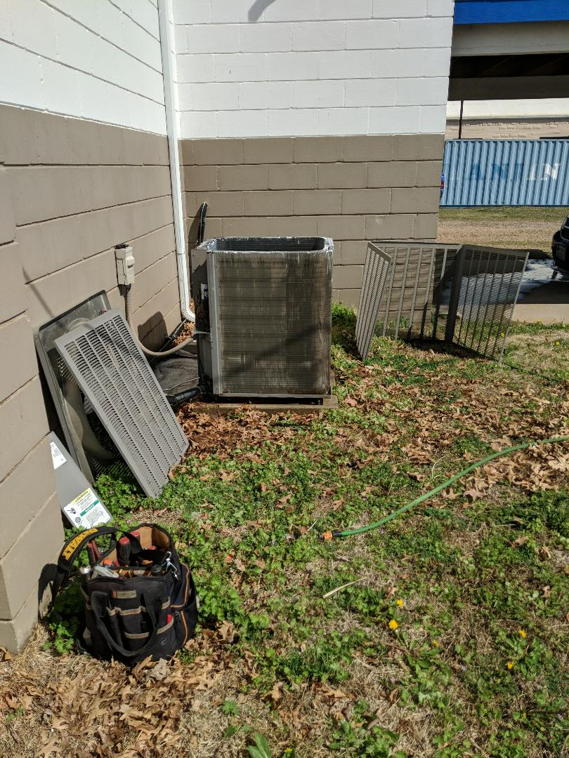 Cheney, KS - Performing a spring A/C service