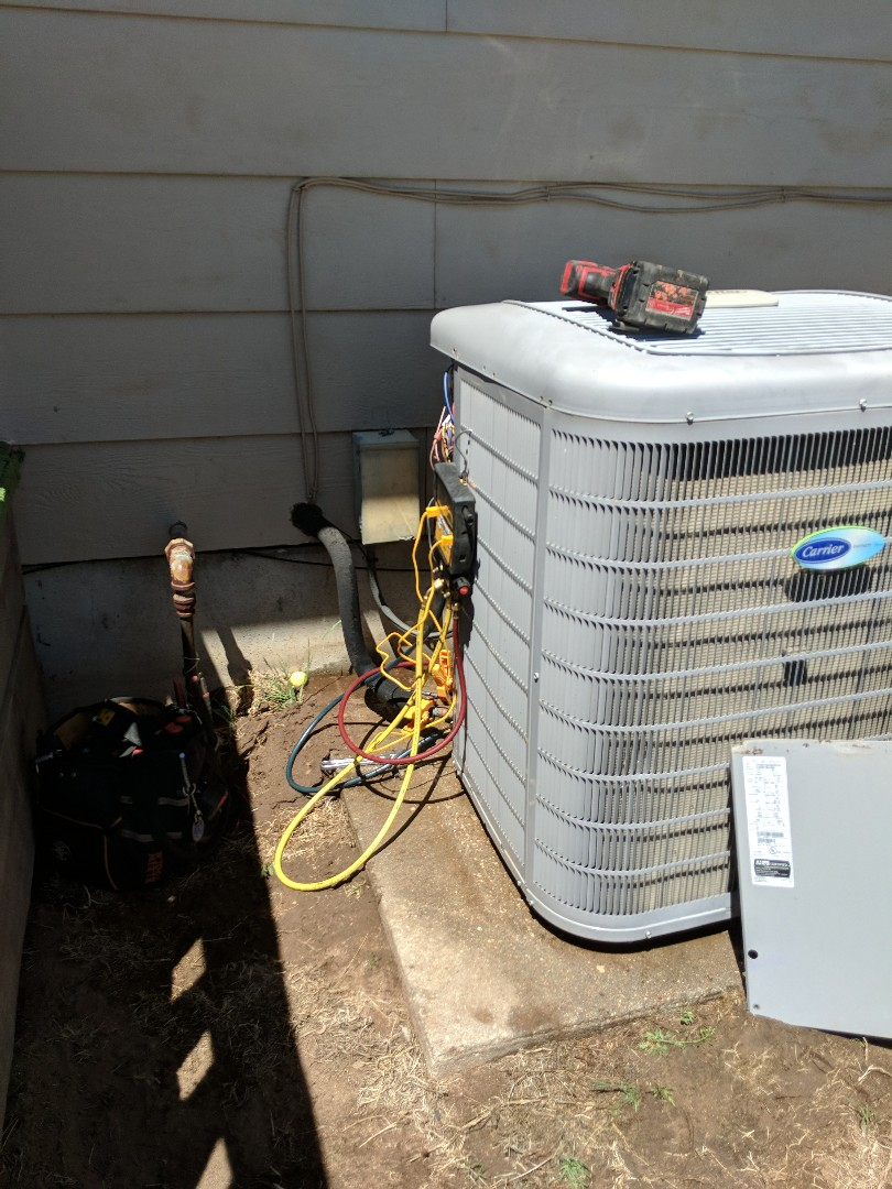 Sharon, KS - Performing a complete service on furnace and A/C.