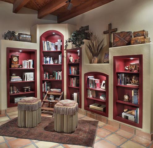 Tucson, AZ - Whole House Remodel. Library. Built in bookshelves.