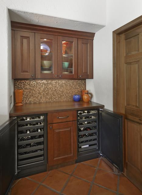 Tucson, AZ - Kitchen Remodel with bar area and builtin wine coolers