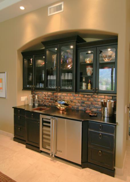 Tucson, AZ - Kitchen Remodel. Pima Canyon. Granite Countertops. Black Cabinets. Builtin Appliances.