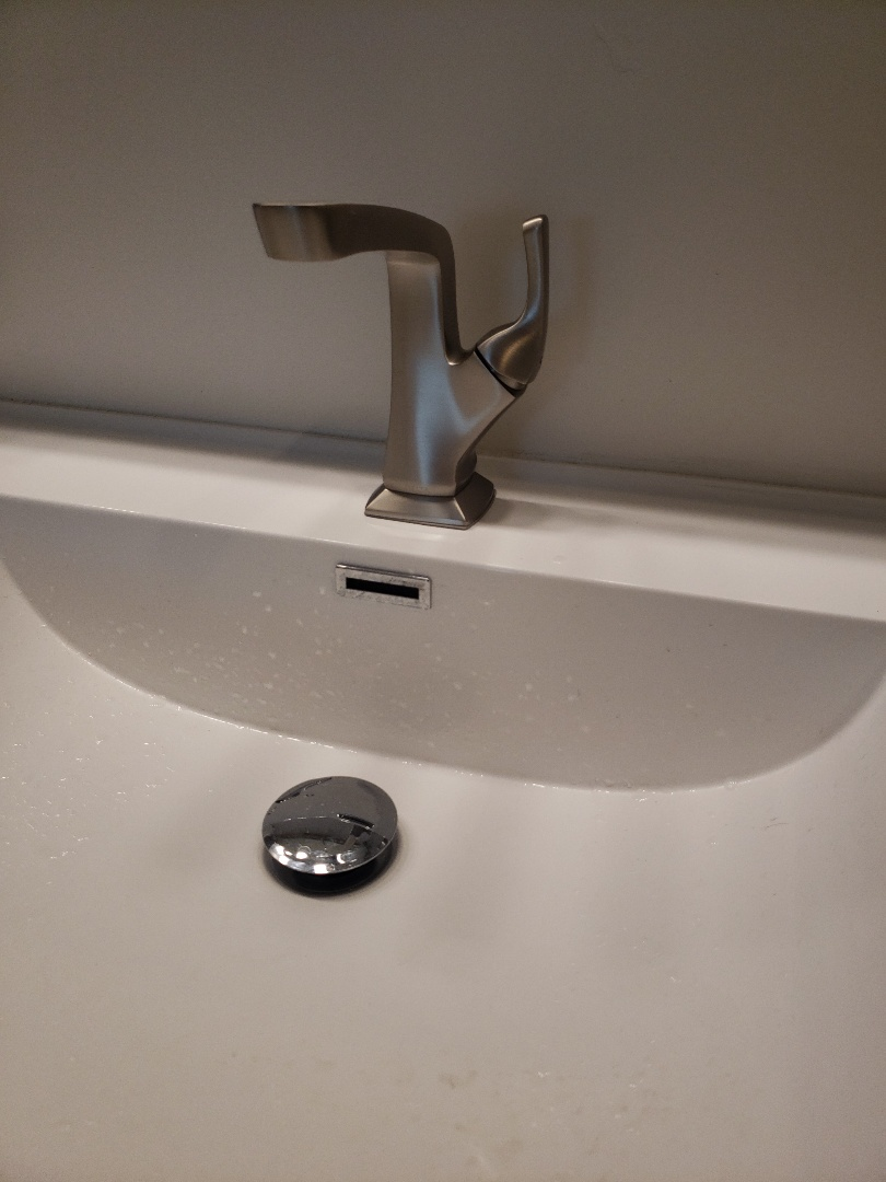 Soquel, CA - Install customer supplied bathroom faucet