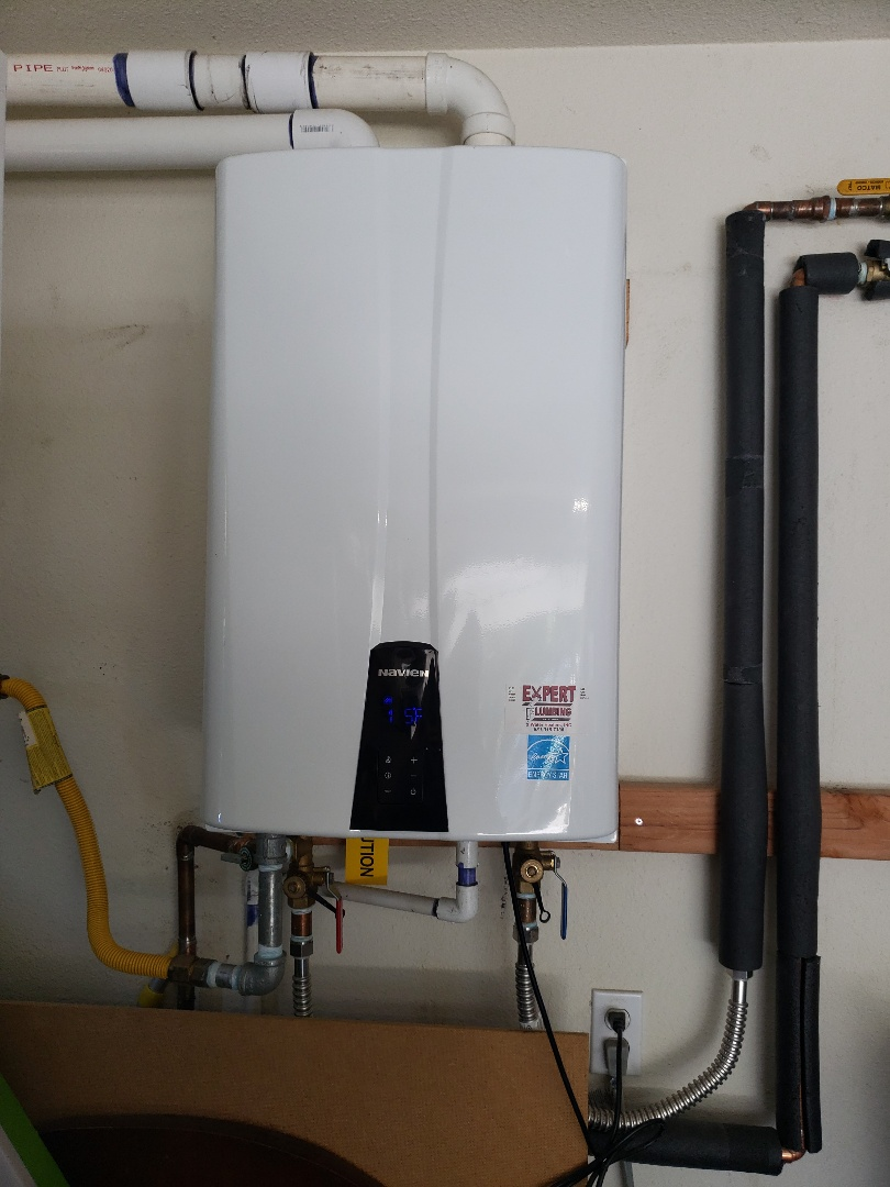 Santa Cruz, CA - New Tankless water heater installation.