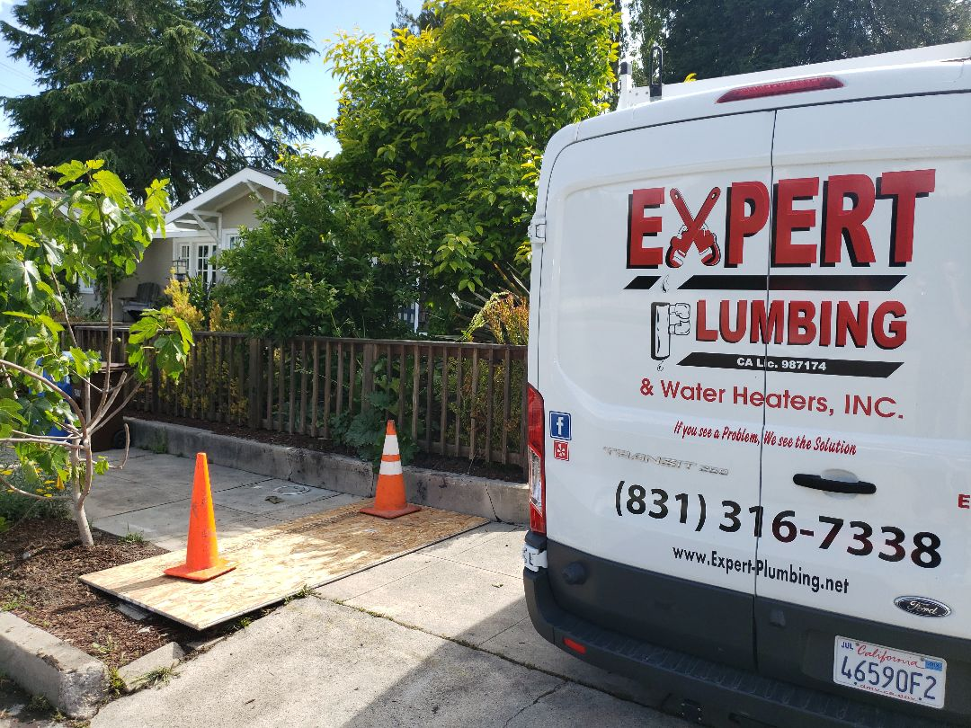 Santa Cruz, CA - Expert Plumbing replaced water line under ground from city meter to house.