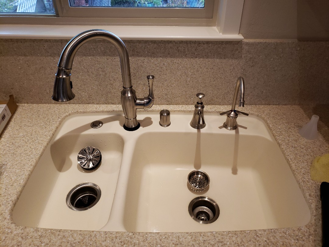 Santa Cruz, CA - Install new touch kitchen faucet.