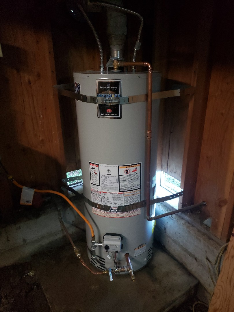 Expert Plumbing installed new 50 gallons water heater