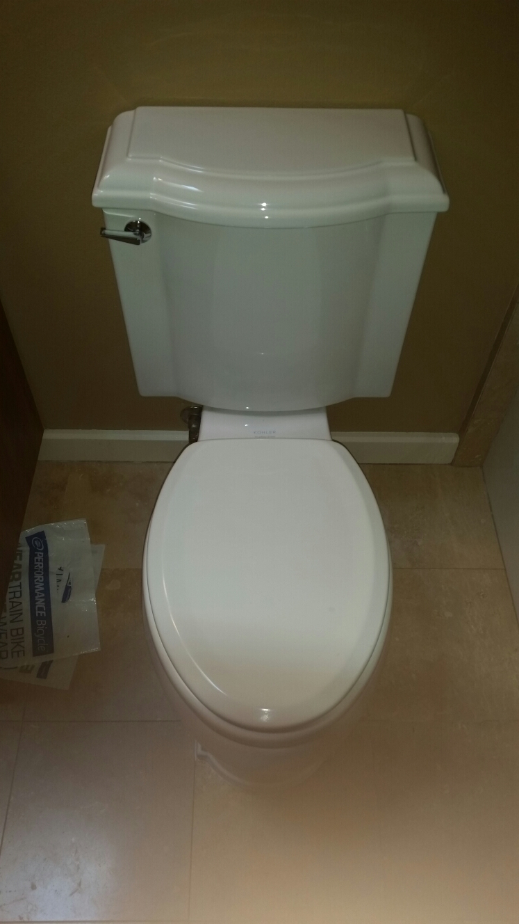 Capitola, CA - Expert Plumbing - Reset toilet with new wax ring and new bolt kit.