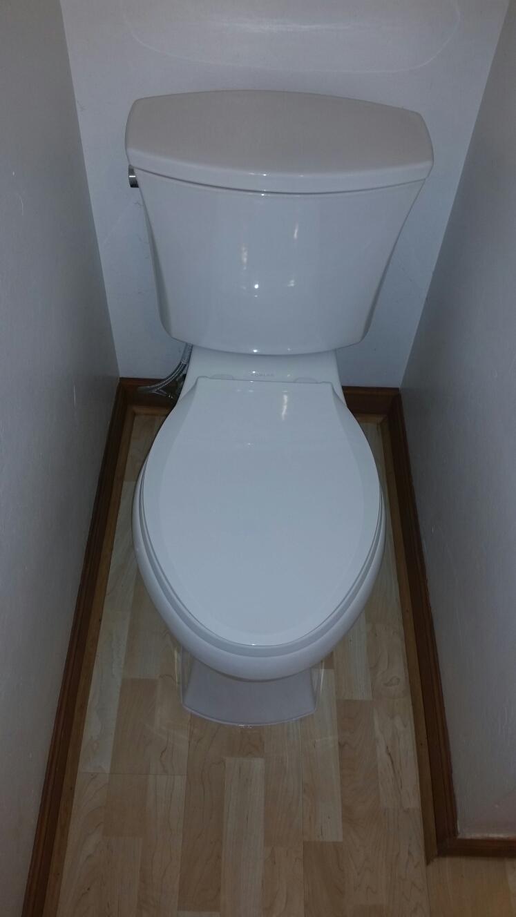 Felton, CA - Expert Plumbing - Installed new Kohler Low Flow toilet.
