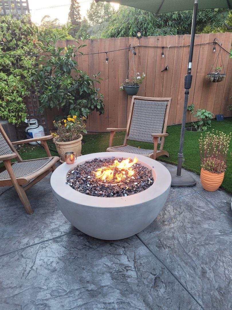 Santa Cruz, CA - New outdoor gas fire 🔥 pit installation by Expert Plumbing
