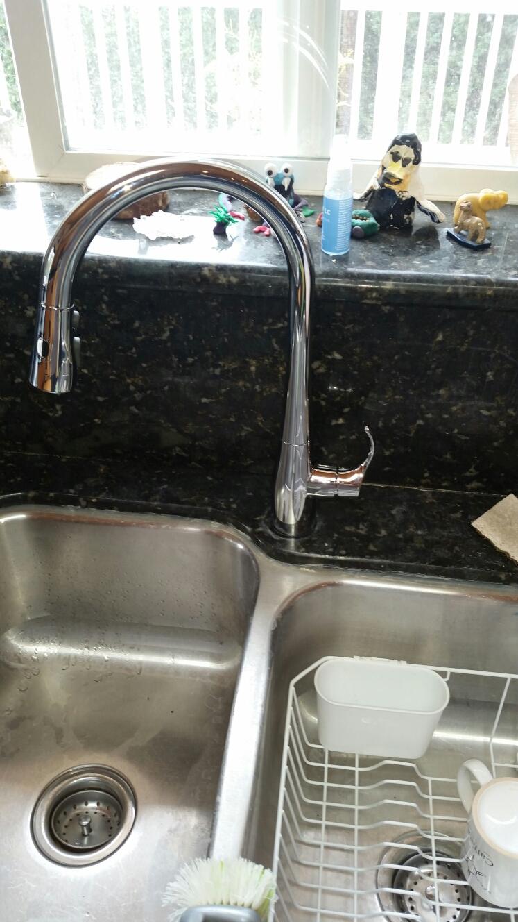 Felton, CA - Expert Plumbing - Installed new Kohler kitchen faucet. Also fixed a leak on shower valve.