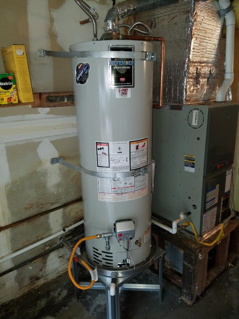 Santa Cruz, CA - Expert Plumbing installed new 40 gallons. N.gas WH.