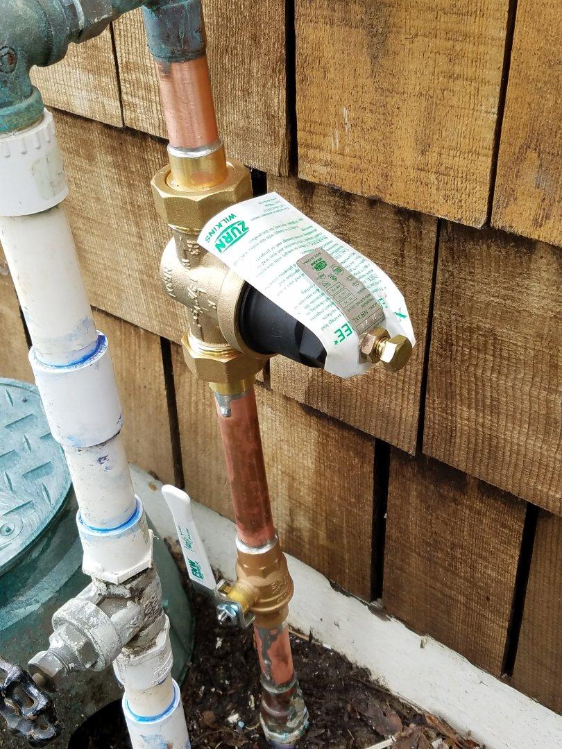Santa Cruz, CA - Main water Pressure Reducing Valve  (PRV) installed by the Experts @ Expert Plumbing