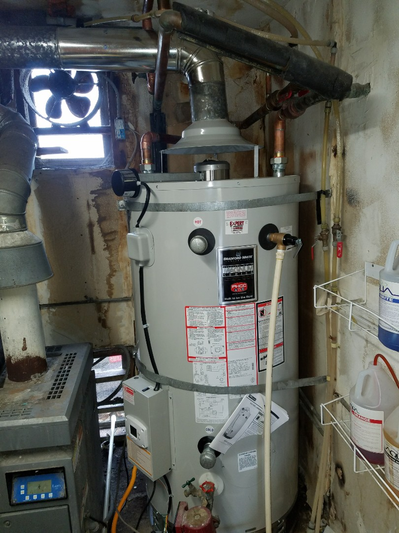 Scotts Valley, CA - 100 gallons Commercial water heater installation @ a local motel business.