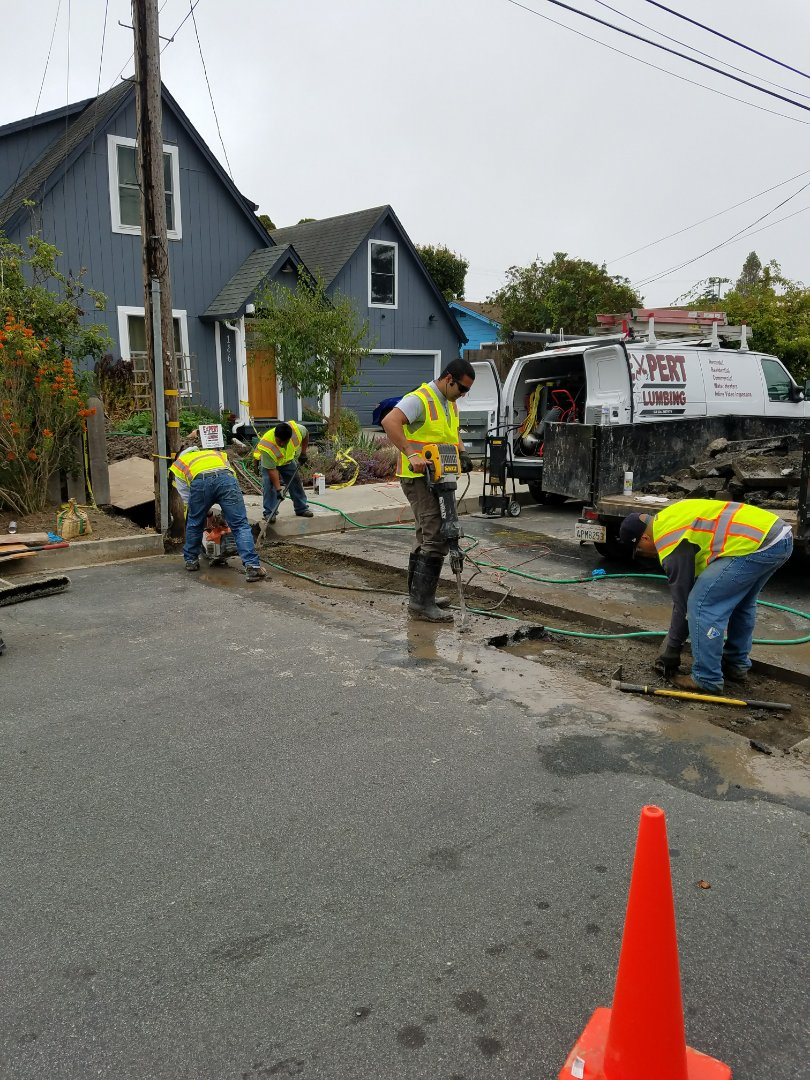Santa Cruz, CA - Lateral sewer drain line replacement by the Experts @ Expert Plumbing