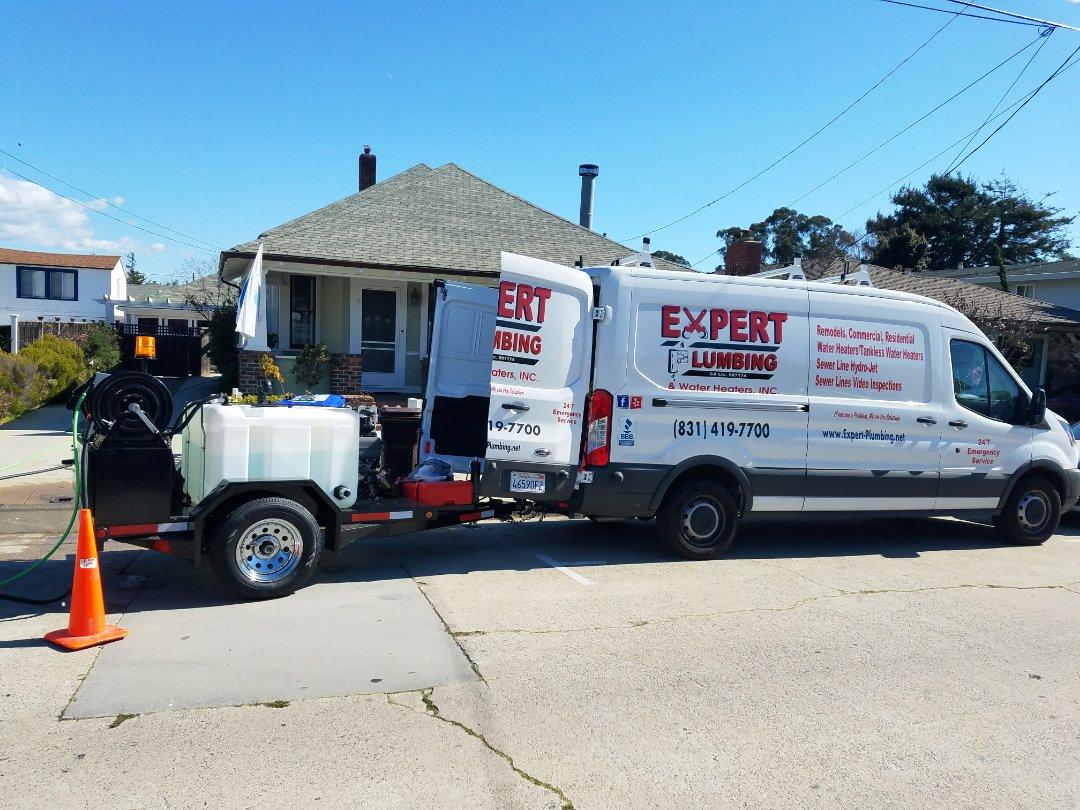 Santa Cruz, CA - Hydro Jetting main lateral sewer line.  Thank you Expert Plumbing.