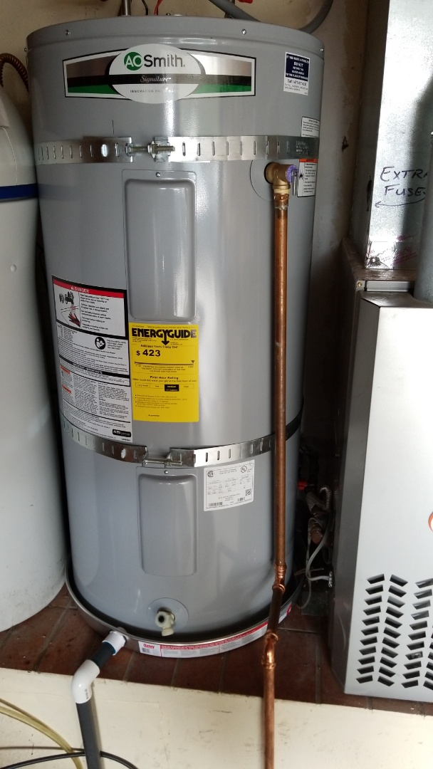 Soquel, CA - Expert Plumbing installed new 50 gallon water heater.