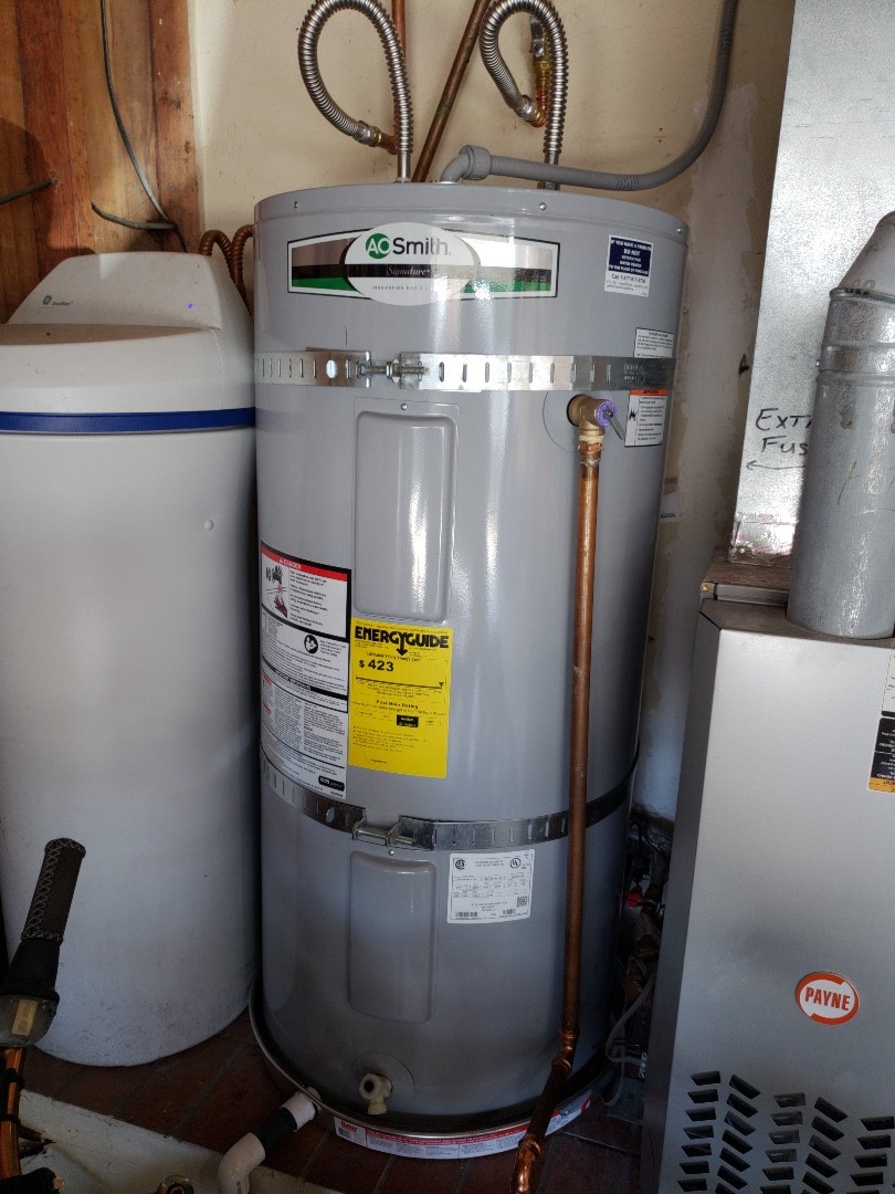 Soquel, CA - Installed new electric high energy water heater.