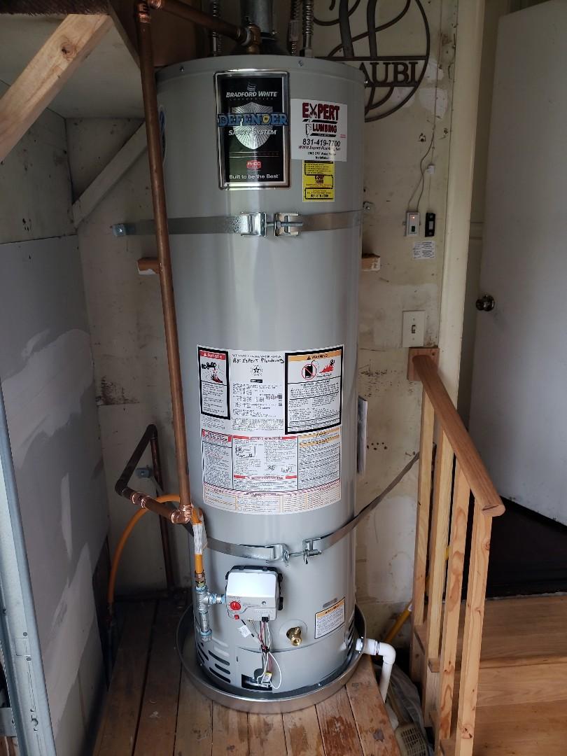 Santa Cruz, CA - Expert Plumbing Installed new 40 gallons N.gas water heater