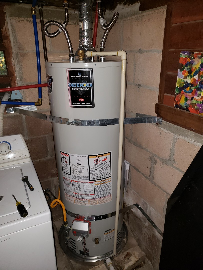 Felton, CA - Expert Plumbing installed new 50 gallons LP water heater and new venting system.  Great job Expert Plumbing.