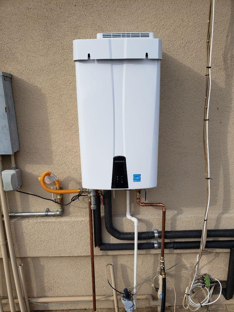 Santa Cruz, CA - New Tankless water heater installation by Expert Plumbing.  Great job.