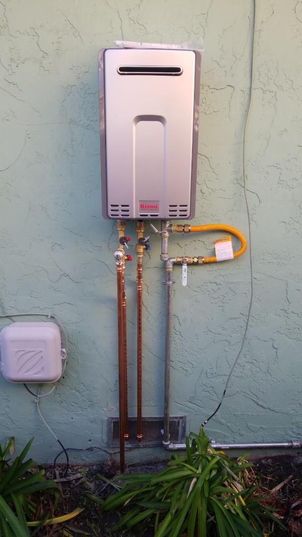 Santa Cruz, CA - Expert Plumbing installed new outdoor tankless water heater.