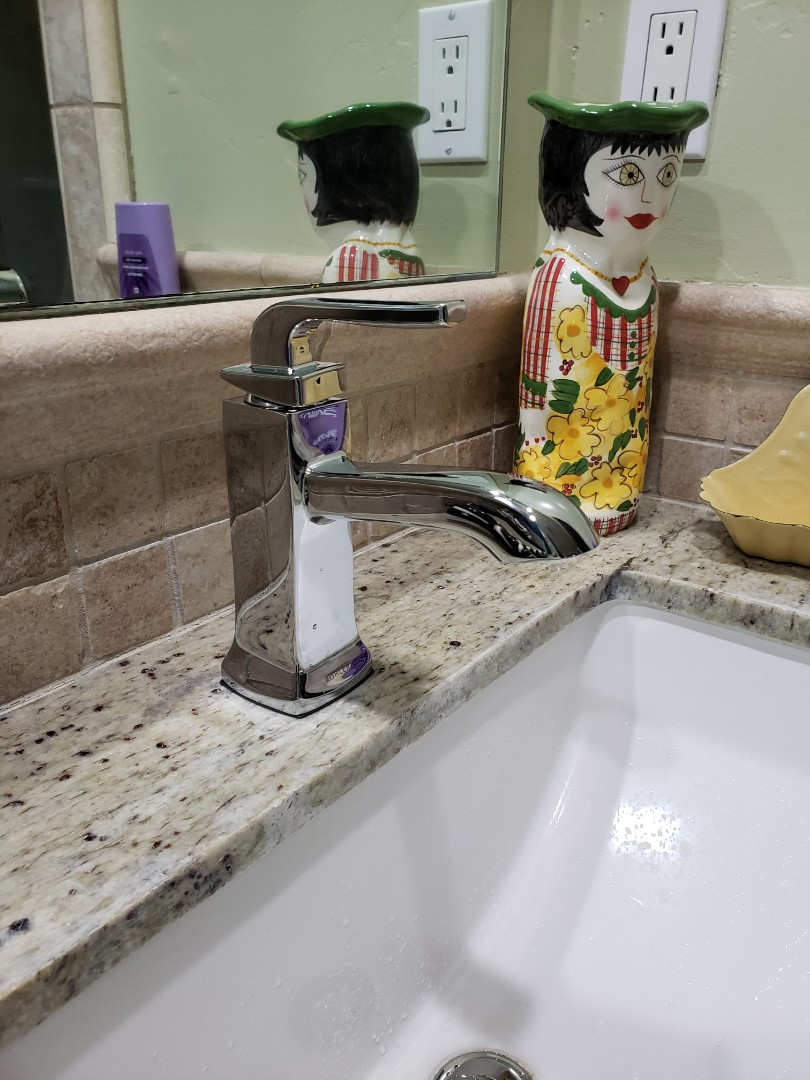Capitola, CA - Expert Plumbing installed new bathroom faucet.