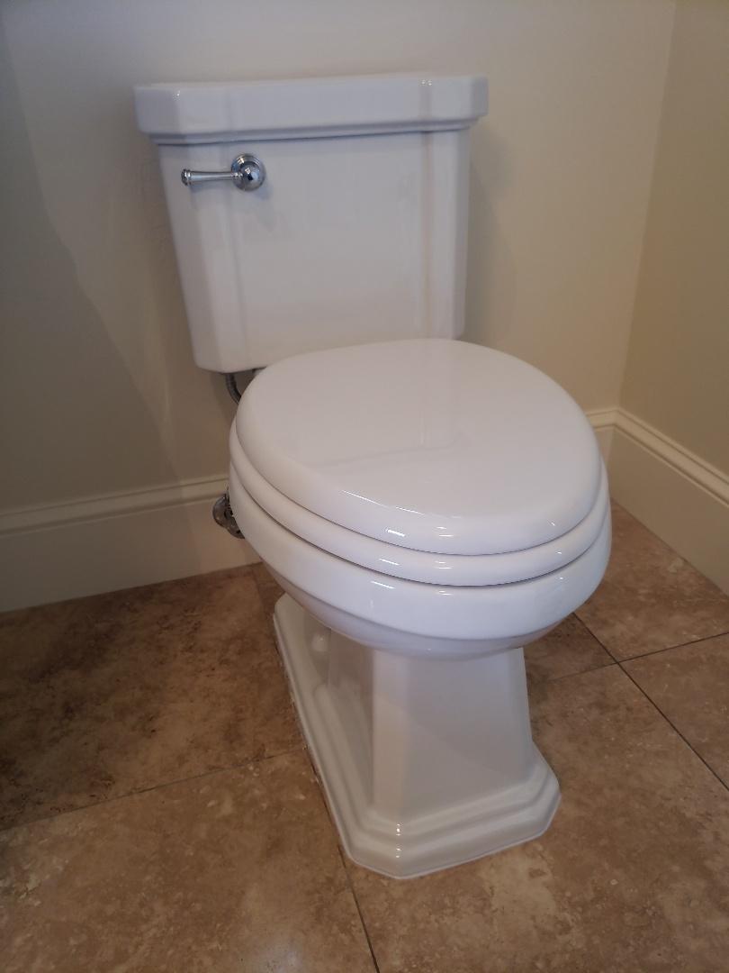 Santa Cruz, CA - Expert Plumbing Installed new Low Flow toilet.