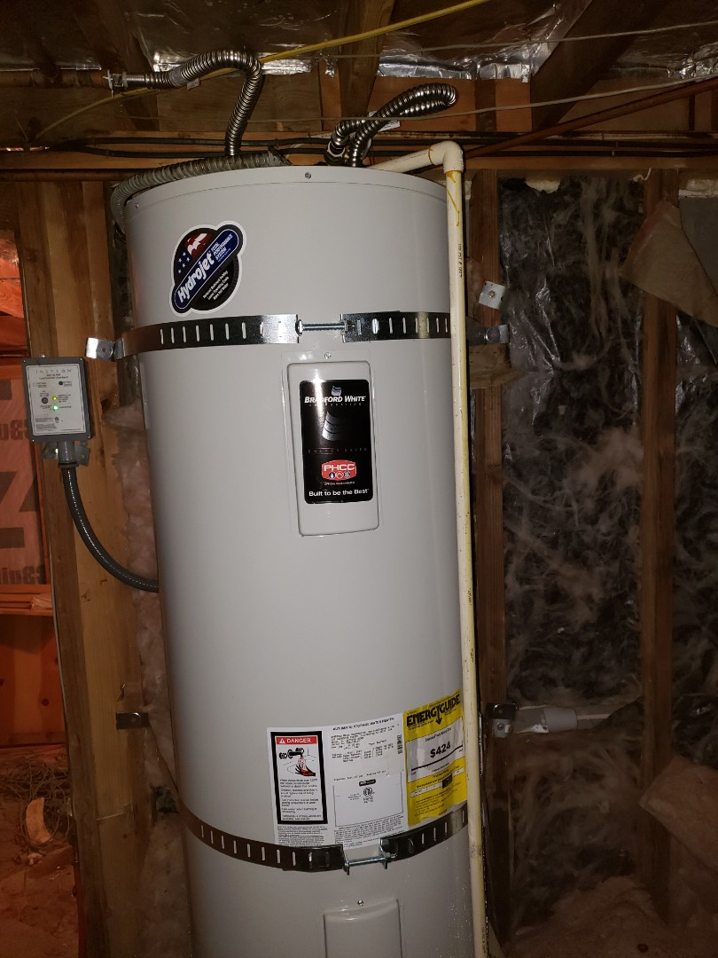 Felton, CA - Expert Plumbing installed new 50 gallons electric water heater.