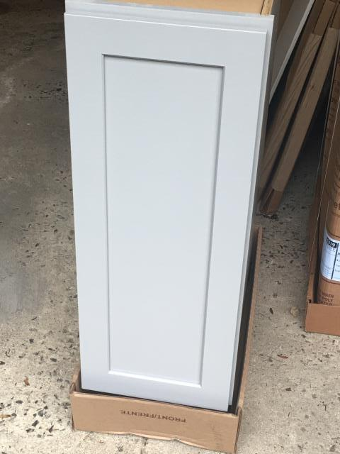 Glenmoore, PA - Beautiful, stone gray paint, shaker style Waypoint cabinets ready to be installed in newly designed kitchen. Stay tuned for more......