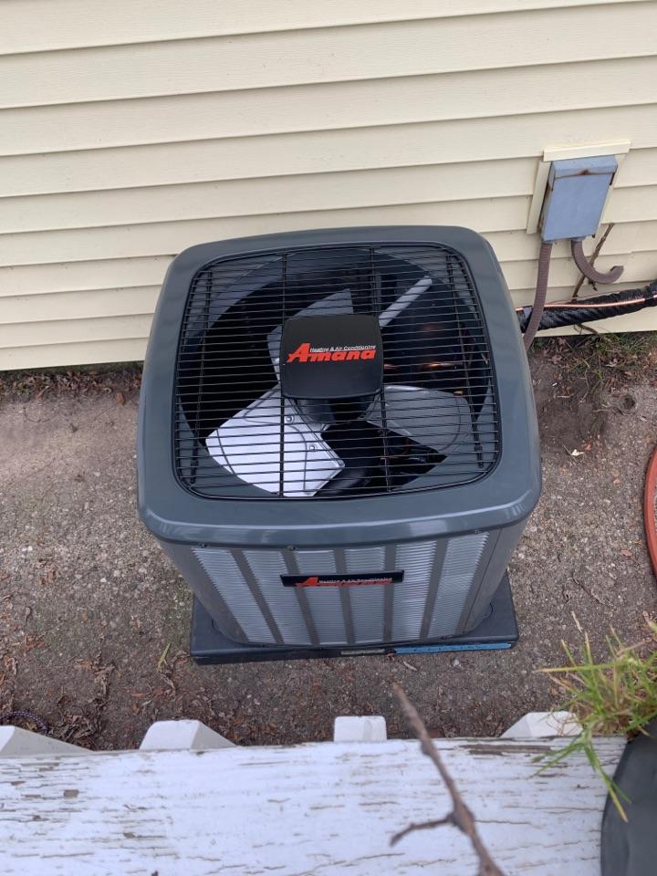 Ashley, MI - Install new Amana air conditioner