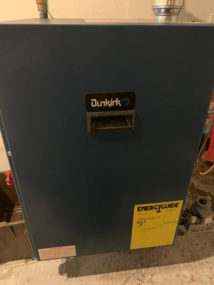 Saint Johns, MI - Install new Dunkirk boiler