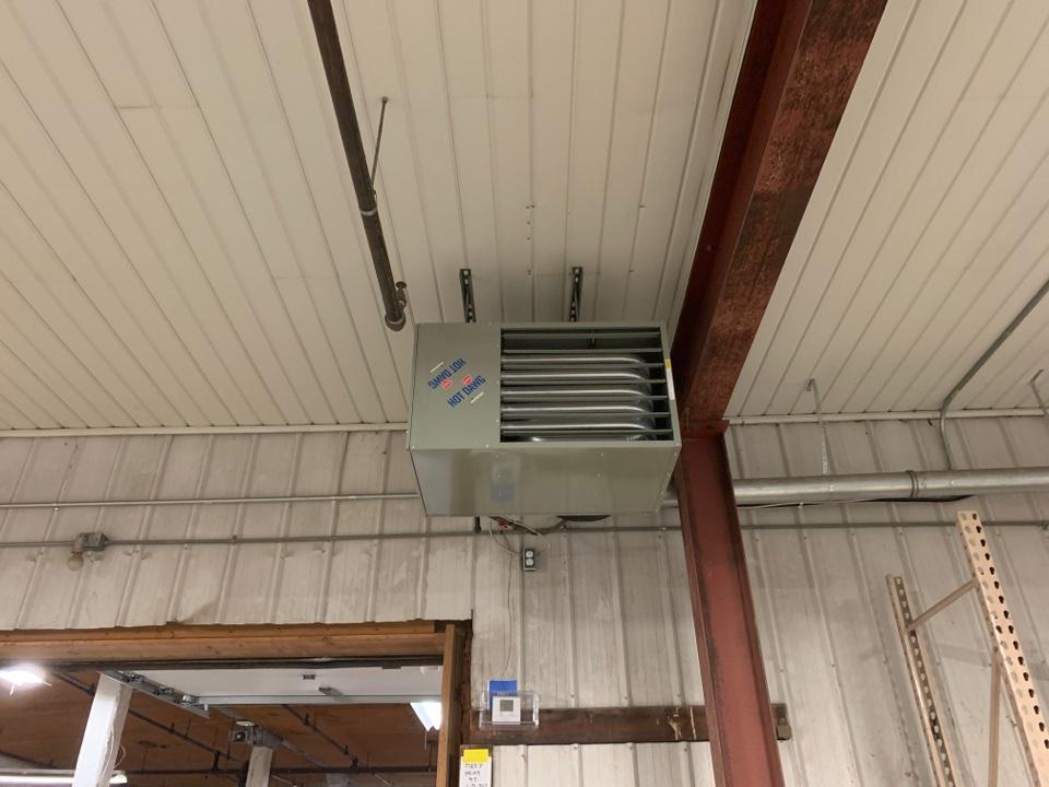 Lansing, MI - Install unit heater modine hot dawg