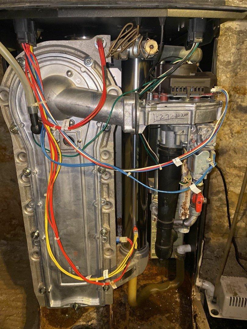 Maintenance on Weil-Mclain gas boiler