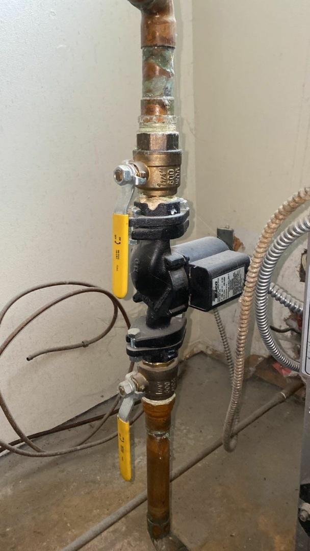 Maintenance on Lennox oil boiler
