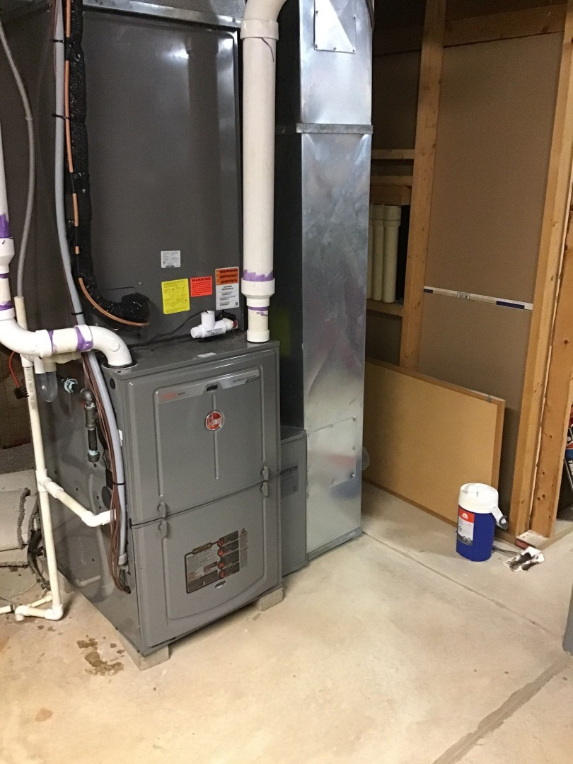 Warranty repair on Rheem gas furnace