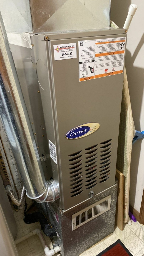 Service call on Carrier gas furnace