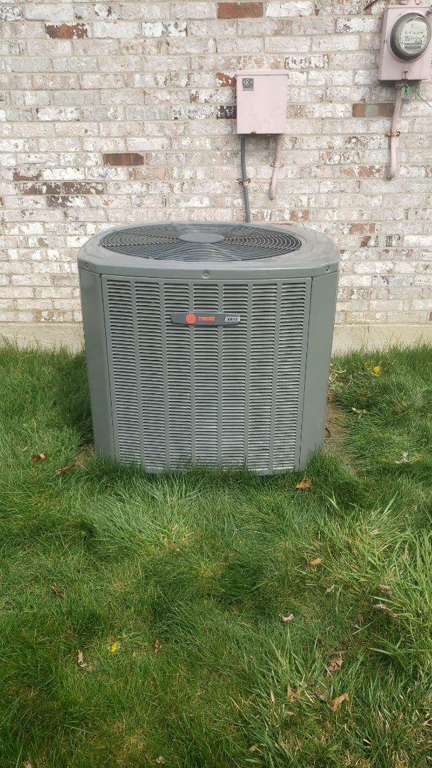 Maintenance on Trane air conditioner