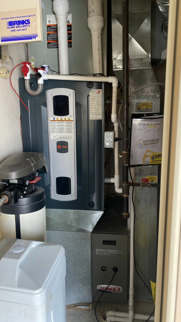 Maintenance on Trane gas furnace