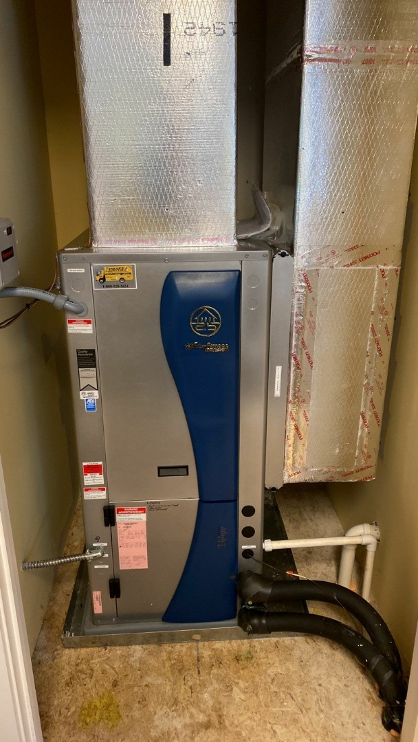 Maintenance on two Water Furnace geothermal systems
