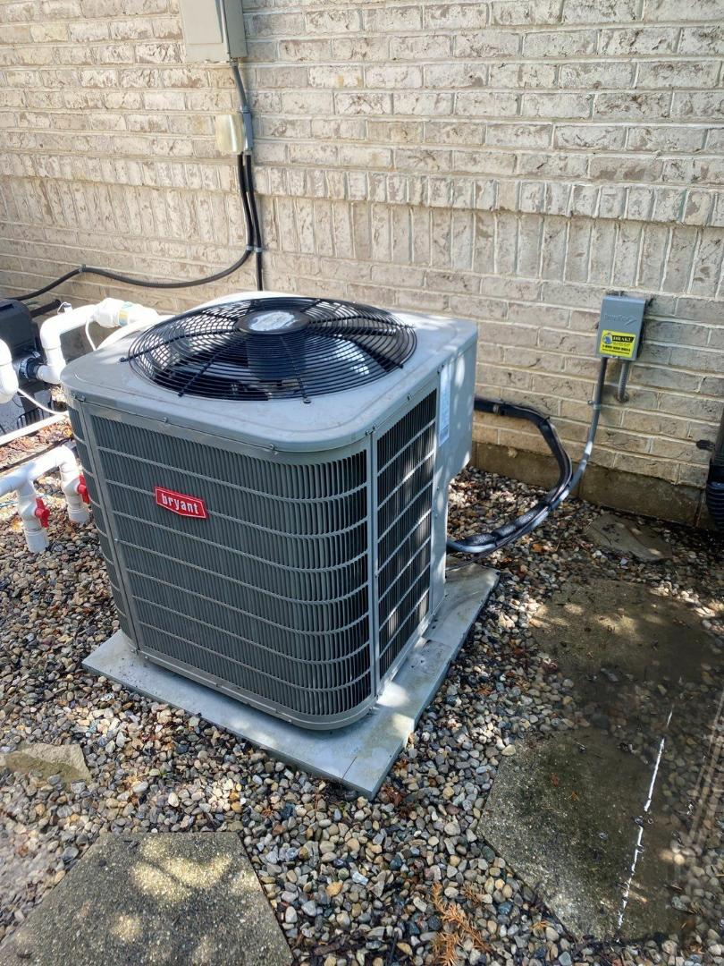 Maintenance on 2 Bryant air conditioners